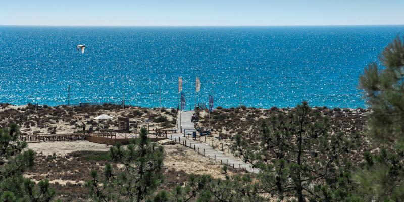 Sea view at Ria Formosa in Algarve, Portugal