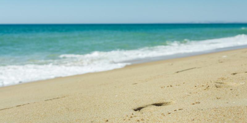 Ancoa Beach, a beautiful sandy beach in the Algarve, Portugal
